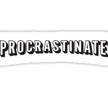 Procrastinate | Netflix shirt, hoodie and more  Sticker
