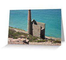 Tin Mine, St Agnes, Cornwall Greeting Card