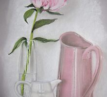 Peony and jugs by Tracey Boulton