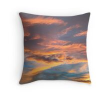 This sky is folding under you... Throw Pillow
