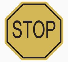 STOP, Sign, Old American, Americana, USA, America, Road Sign, Yellow by TOM HILL - Designer
