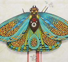 psychedelic butterfly by federico cortese