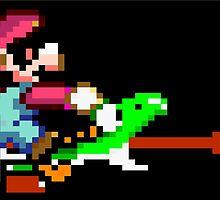 Mario punches Yoshi by ilikedoge