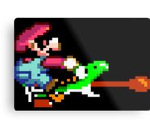 Mario punches Yoshi Metal Print