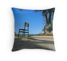 Square Chair, Blue Solitude Throw Pillow