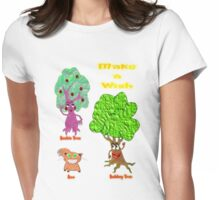 Beebie Tree, Bobbey Tree & Boo T-shirt Womens Fitted T-Shirt
