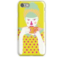 a cup of tea a day iPhone Case/Skin