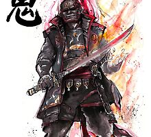 Ganondorf from Zelda game series with Japanese Calligraphy by Mycks
