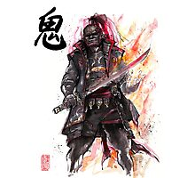 Ganondorf from Zelda game series with Japanese Calligraphy Photographic Print