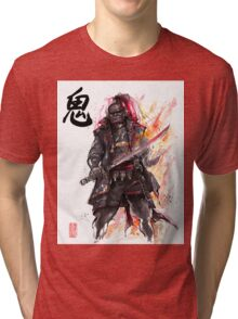Ganondorf from Zelda game series with Japanese Calligraphy Tri-blend T-Shirt