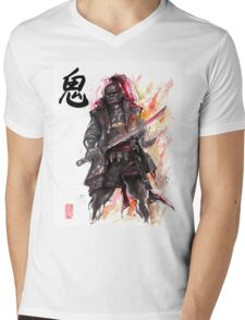 Ganondorf from Zelda game series with Japanese Calligraphy Mens V-Neck T-Shirt