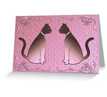 wealthy cats Greeting Card