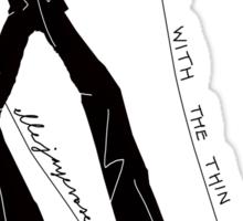 """Dancing with the Thin White Duke"" Sticker"