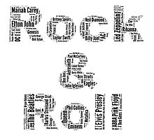 Rock & Roll Word Cloud Photographic Print