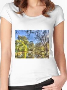 The Pond Side Trees Women's Fitted Scoop T-Shirt