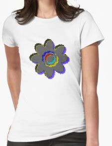 3D Grey Ripple Flower T-Shirt