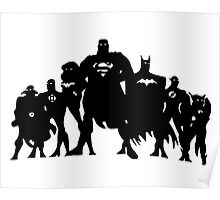 Justice League Silhouette  Poster
