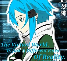 "Sinon ""The virtual world is jut a different form of reality"" by Skyforce99"