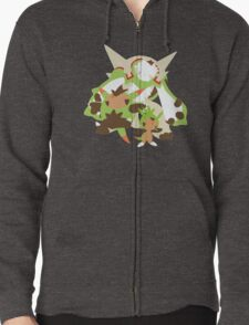 Chespin Evolution Zipped Hoodie