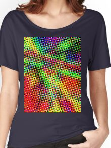 Trippy Half Tone Women's Relaxed Fit T-Shirt