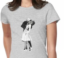 The Kissing Sailor Womens Fitted T-Shirt