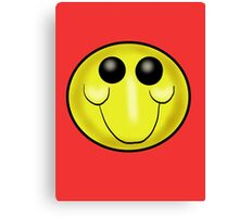 Goofy Smiley face Cartoon Canvas Print