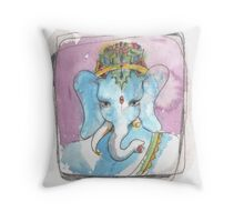 Babar Ganesh Throw Pillow