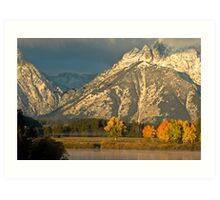 Geese Over Oxbow Autumn Art Print