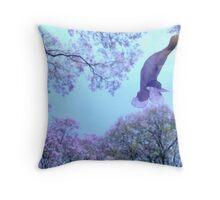 Falling Jacaranda blossom Throw Pillow