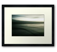 experiments with motion Framed Print