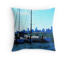 Boating around Throw Pillow