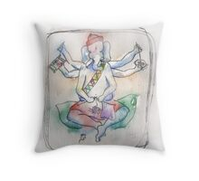 Ganesh - Old Biddy Throw Pillow