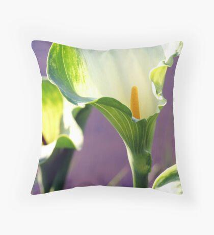 Green Goddess erum lilies Throw Pillow