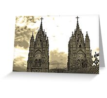 The Best View In Quito V Greeting Card