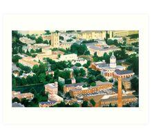 """Higher Education"" Mizzou Watercolor Art Print"