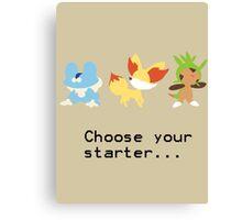 6th Gen Starters Canvas Print