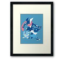 Froakie Evolution Framed Print