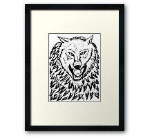 Abstract Wolf Sketch 2 Framed Print