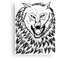Abstract Wolf Sketch 2 Canvas Print