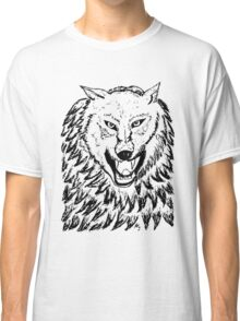Abstract Wolf Sketch 2 Classic T-Shirt