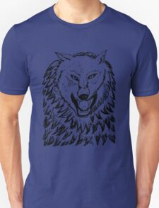 Abstract Wolf Sketch 2 Unisex T-Shirt