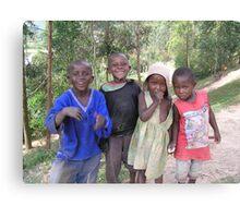 Children of Lake Bunyoni Canvas Print