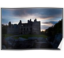 Balvenie castle at sunset Poster