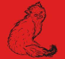 Persian Cat Sketch Kids Clothes