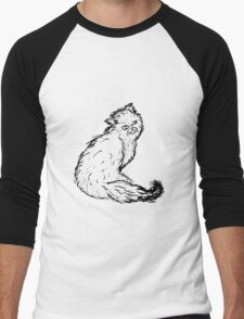 Persian Cat Sketch Men's Baseball ¾ T-Shirt