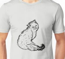 Persian Cat Sketch Unisex T-Shirt