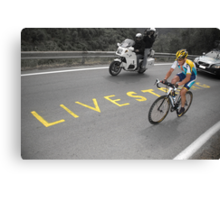 LANCE ARMSTRONG - LIVESTRONG Canvas Print