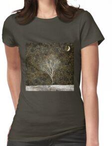 Golden Moonlight Womens Fitted T-Shirt
