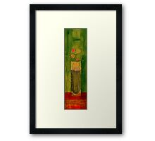 Red Bubbly Framed Print