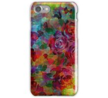 THROUGH ROSE-COLORED GLASSES Bold Rainbow Floral Multicolor Flower Garden Abstract Modern Painting Design iPhone Case/Skin